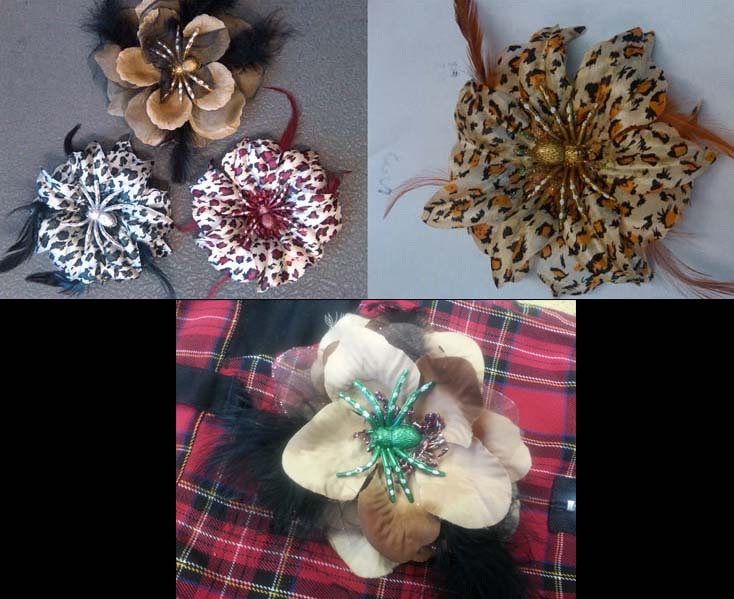 Tara Tarantula hair clips by Hairy Scary - SALE
