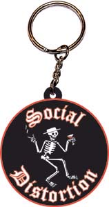 Social Distortion- Skeleton Rubber keychain