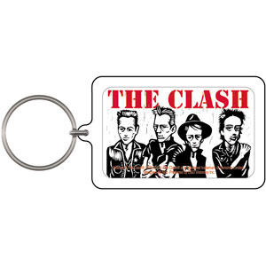 Clash- Band Caricature Lucite Keychain