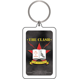 Clash- Know Your Rights Lucite Keychain