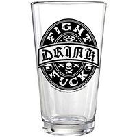 Kustom Kreeps  - Drink Fight Fuck Pint Glass - SALE