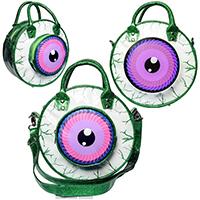 Glitter Eyeball Vinyl Bag by Kreepsville 666 - Green