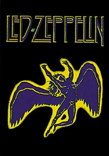 Led Zeppelin- Swan Song Fabric Poster