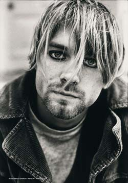 Kurt Cobain- Picture Fabric Poster/Wall Tapestry