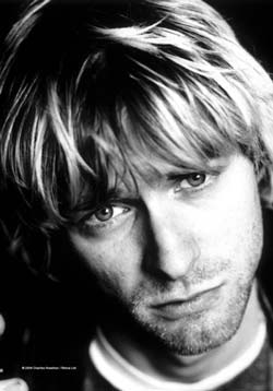 Kurt Cobain- Face Fabric Poster/Wall Tapestry