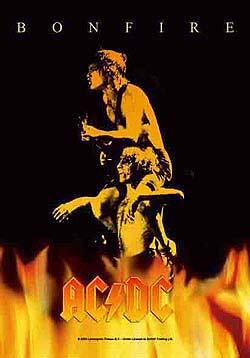 AC/DC- Bonfire Fabric Poster