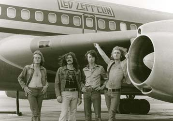 Led Zeppelin- Airplane Fabric Poster/Wall Tapestry