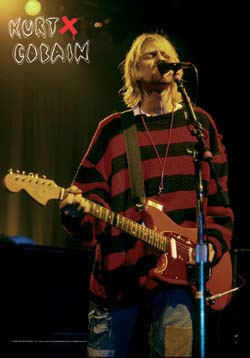 Kurt Cobain- On Stage Fabric Poster/Wall Tapestry