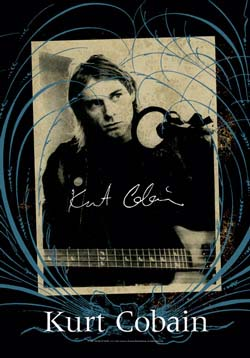 Kurt Cobain- Frame Fabric Poster/Wall Tapestry