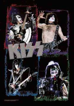 Kiss- Frames Fabric Poster/Wall Tapestry