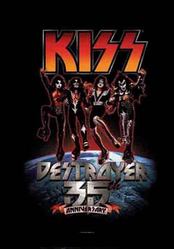 Kiss- Destroyer 35th Anniversary Fabric Poster