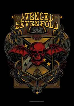 Avenged Sevenfold- Death Crest Fabric Poster