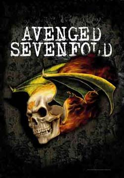 Avenged Sevenfold- Flying Deathbat Fabric Poster