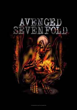 Avenged Sevenfold- Fire Bat Fabric Poster