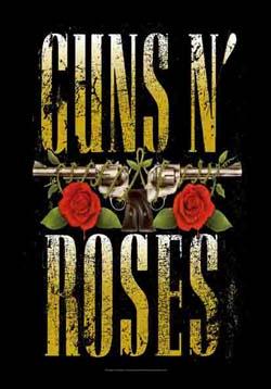 Guns N Roses- Guns Logo Fabric Poster