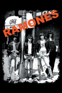 Ramones- Band In Front Of CBGBs magnet