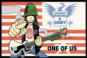 Johnny Ramone- One Of Us sticker (st507)