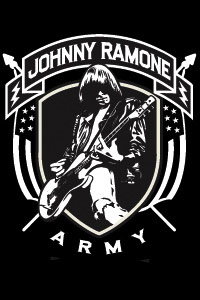 Johnny Ramone- Johnny Ramone Army (Playing Guitar) magnet