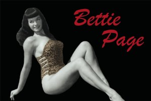 Bettie Page- Reclining With Leopard Bathing Suit magnet