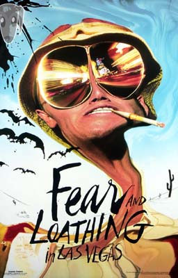 Fear And Loathing In Las Vegas- Depp Cartoon poster