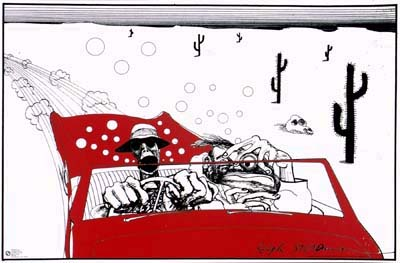 Fear And Loathing In Las Vegas- Ralph Steadman Art poster
