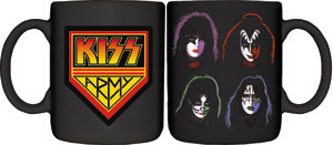 Kiss- Kiss Army & Faces coffee mug