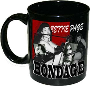 Bettie Page- Bondage coffee mug