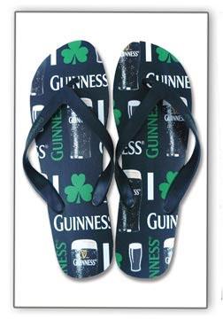 Guinness- Pints & Logos Flip Flops (Sale price!)