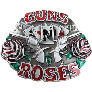 Guns N Roses- Cards & Guns belt buckle (bb272)