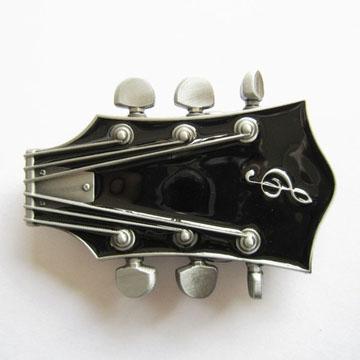 Guitar Stock (Black) belt buckle (bb173)