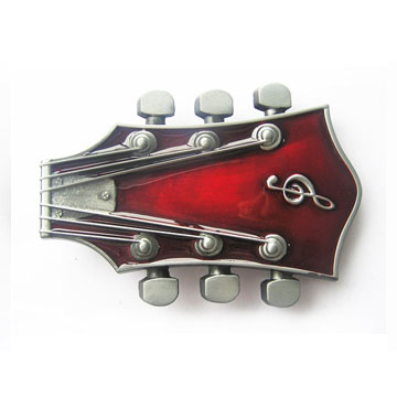 Guitar Stock (Red) belt buckle (bb168)