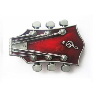 Guitar Stock (Red) belt buckle (bb168)