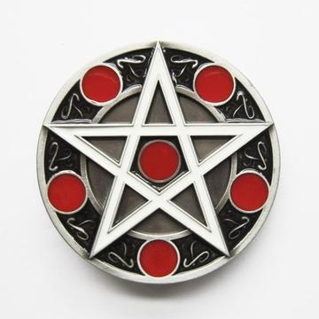 Pentagram belt buckle (bb341)