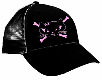Kitty Bones Trucker Hat by Lucky Mule (Sale price!)