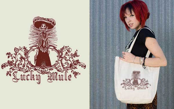Lady Death tote bag by Lucky Mule (Sale price!)