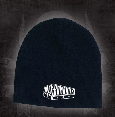 Nekromantix- Coffin Logo embroidered on a black beanie