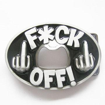 F*ck Off! Belt Buckle (Bottle Opener) (bb336)