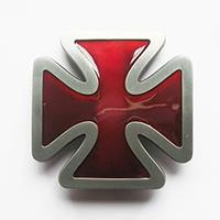 Iron Cross (Red) belt buckle (bb206)