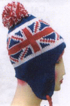 Knit Pilot Hat- Uk Flag