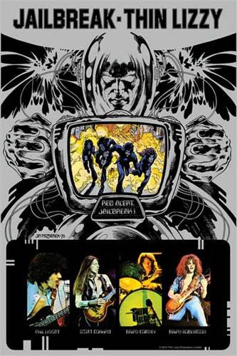 Thin Lizzy- Jailbreak poster