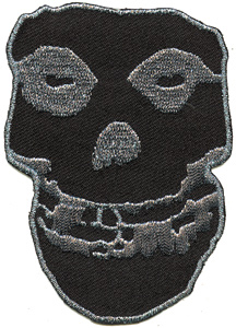 "Misfits- Black & Silver Skull 10"" embroidered patch"