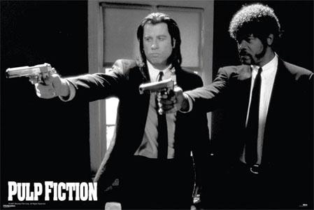 Pulp Fiction- Guns poster