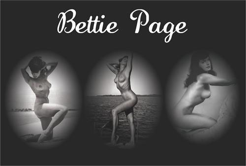 Bettie Page- Triple Pic poster