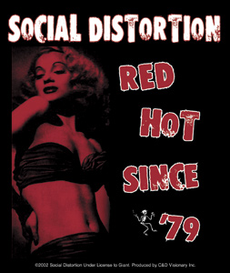 Social Distortion- Red Hot Since '79 sticker (st509)