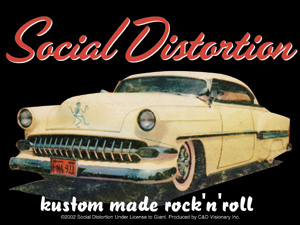 Social Distortion- Kustom Made Rock'N'Roll sticker (st511)