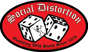 Social Distortion- Gambling With Souls Since 1979 sticker (st513)