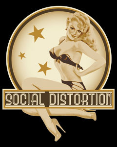 Social Distortion- Pin Up sticker (st495)