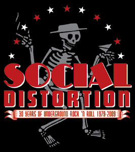 Social Distortion- Skelly & Stars sticker (st496)
