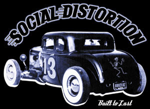Social Distortion- Hot Rod sticker (st499)