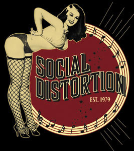 Social Distortion- Burlesque sticker (st501)